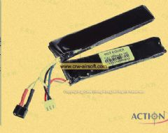 ACTION 7.4V 1100mAh 15C Lithium Battery (Twins Mini T-Plug)